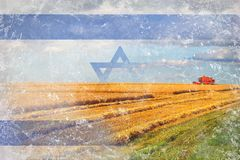 Israel agriculture, harvesting crops Stock Photo