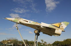 Israel Air Force Kfir C2 fighter jet on a traffic circle in Beer Sheva Royalty Free Stock Photography