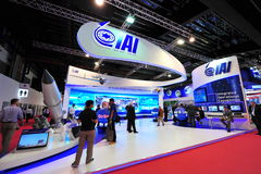 Israel Aircraft Industries (IAI) showcasing its military aerospace technology at Singapore Airshow Stock Photography