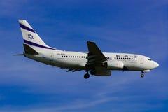 Israel Airline EL AL/Boeing 737 nästa Gen/MSN 29961/4X-EKE Royaltyfria Bilder