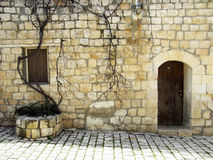 Israel  Alley. Antique Stone House in zefat israel Royalty Free Stock Photography