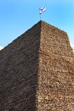 Israel, an ancient brick tower 1 Royalty Free Stock Photography