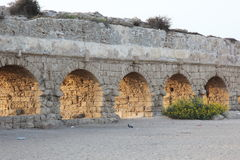 Israel, Ancient Roman aqueduct in Ceasarea Royalty Free Stock Photography