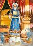Israel antiguo. Alto sacerdote stock de ilustración