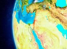 Israel auf Erde vom Raum Stockbild