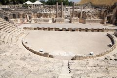 Israel. Bet She'an National Park, Israel: the theatre. The theatre was built in the 1st century C.E and the 7000 seats theatre seen today is the renovation Royalty Free Stock Photography