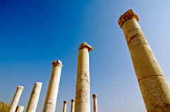 Israel, Bet Shean columns Royalty Free Stock Images