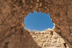 Israel Bethel Mening van officieel geïdentificeerde vlek de Rots van Jacobs-droom in Bethel zoals die in ontstaan 28-12-19 in oud royalty-vrije stock afbeelding