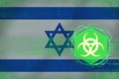 Israel biohazardhot Bio hotbegrepp Arkivbild