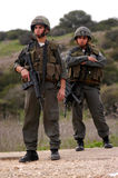 Israel Border Police. WEST BANK, ISR - JAN 18:Israeli Border Police on Jan 18, 2006.Because of their combat training, border they employed in unique areas, where royalty free stock photo