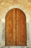 In israel, brown very old craftmanship door. Very beautiful brown historic door stock photos