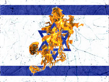 Israel Burning Flag Illustration Concept Fotografia Stock
