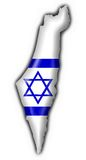 Israel button flag map shape Royalty Free Stock Image