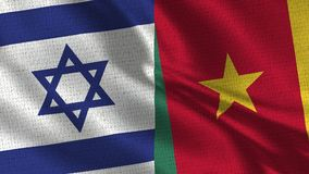 Israel and Cameroon Flag - Two Flag Together stock photography