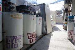 Israel, cerveza-Sheva - nuevos calentadores de agua solares en la acción Foto de archivo