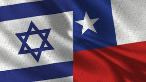 Israel and Chile Flag - Two Flags Together royalty free stock image