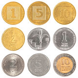 Israel circulating coins Stock Photo