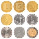 Israel cirkulerande mynt Arkivfoto