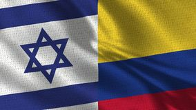Israel and Colombia Flag - Two Flags Together royalty free stock photography