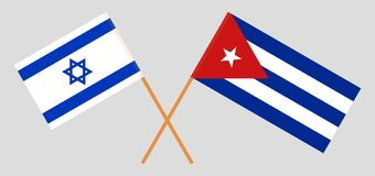 Israel and Cuba. The Israeli and Cuban flags. Official colors. Correct proportion. Vector. Illustration royalty free illustration