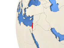 Israel on 3D globe Royalty Free Stock Photography