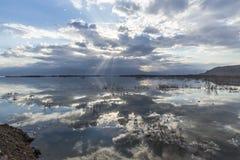 Israel. Dead sea. Dawn. Sunrise. Royalty Free Stock Photos
