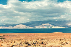 Israel, Dead Sea in the desert with mountain view Stock Photography