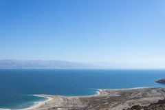 Israel. Dead sea. View from the Judean Desert stock photo