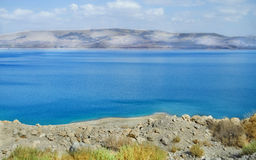 Israel, Dead Sea. Water and mountain landscape Royalty Free Stock Image