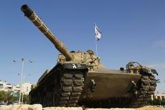 Israel Defense Forces Merkava-tank in een geheugen van gevallen ambtenaar van Golani-brigade in Bier Sheva Royalty-vrije Stock Afbeeldingen