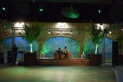 Israel, Dimona, ANSR 2018 do ulam - Salão das celebrações na noite fotografia de stock royalty free