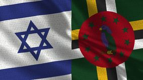 Israel and Dominica Flag - Two Flags Together royalty free stock photography