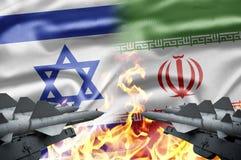 Israel e Irã Imagem de Stock