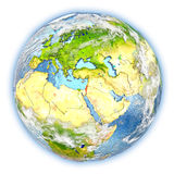 Israel on Earth isolated Royalty Free Stock Photos