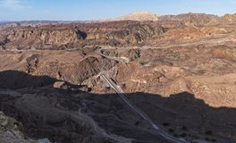 Sinai Israel Border Fence in the Eilat Mountains royalty free stock photos