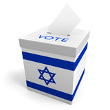 Israel election ballot box for collecting votes Royalty Free Stock Images