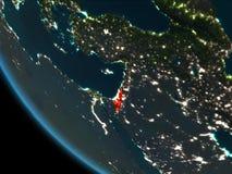 Israel en la noche de la órbita ilustración del vector