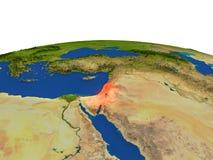 Israel en rojo de la órbita ilustración del vector