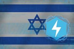 Israel energetics Elektriskt energeticsbegrepp Royaltyfria Foton