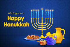 Israel festival Happy Hanukkah background Royalty Free Stock Images