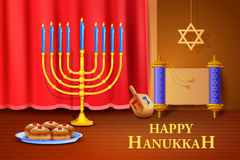 Israel festival Happy Hanukkah background Royalty Free Stock Photography
