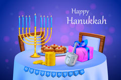 Israel festival Happy Hanukkah background Royalty Free Stock Photos