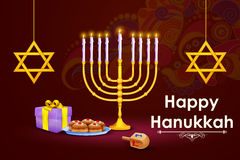 Israel festival Happy Hanukkah background Stock Photos