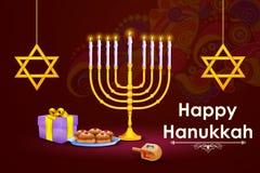 Israel festival Happy Hanukkah background Stock Photos