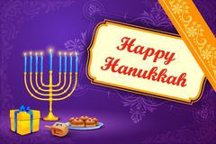 Israel festival Happy Hanukkah background Stock Images