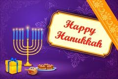 Israel festival Happy Hanukkah background Stock Images