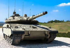 Israel fez o tanque de guerra Merkava Mk IV Imagens de Stock Royalty Free