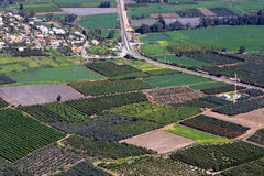 Israel fields. View of Israel fields from Arbel mount in the Lower Galilee Stock Photography