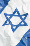 Israel flag. Wrinkled israel flag, detail vertical photo, david star stock photos