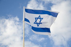 Israel flag. Symbol, national sign Stock Photography